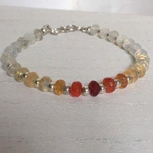 Other - Fire Opal Genuine Mexican Gemstone bracelet